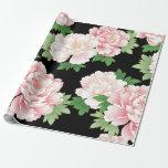 Elegant Pink Peonies Vintage Floral Pattern