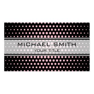 Elegant Pink Polka Dot Pattern Pack Of Standard Business Cards