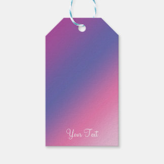 elegant pink purple blue ombre gradient colorful gift tags