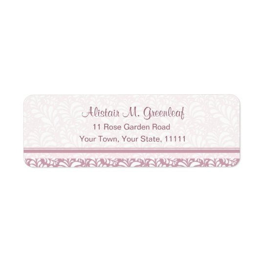 Elegant Pink Return Adress Labels Arts & Crafts