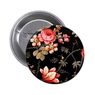 Elegant Pink Rose Button