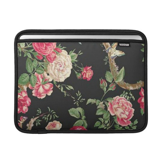 Elegant Pink Rose Macbook Sleeve