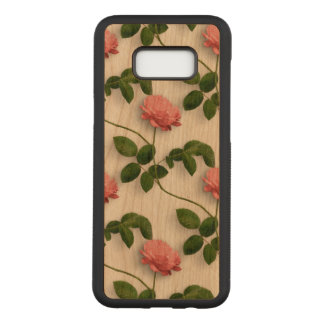 Elegant Pink Roses Watercolors Pattern Carved Samsung Galaxy S8+ Case