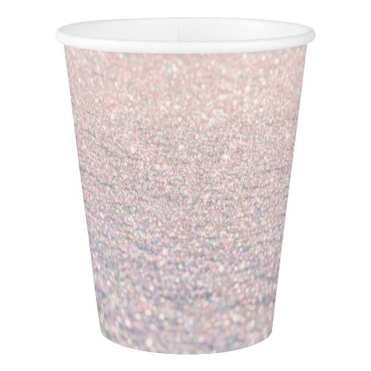 Elegant pink snow chic faux abstract glitter paper