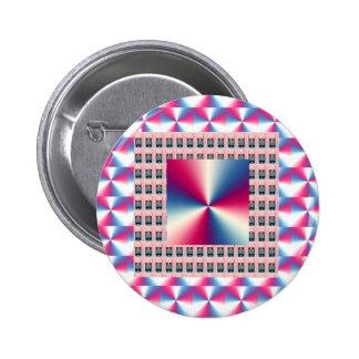 Elegant PINK Sparkle Diamond Graphics 6 Cm Round Badge