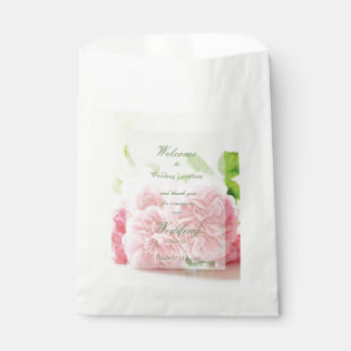 Elegant Pink Summer Rose Wedding Favour Bags
