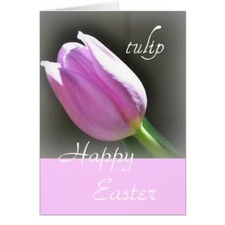 Elegant Pink Tulip Flower Greeting Card