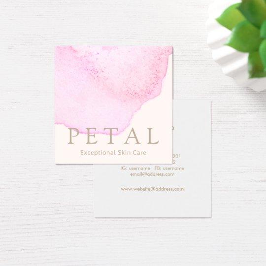 Elegant Pink Watercolor Flower Petal Skin Care Spa