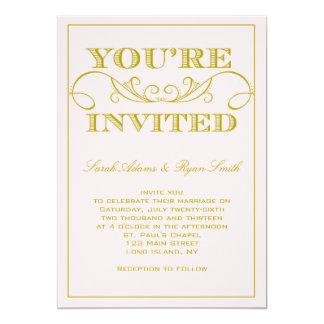 Elegant Pink Wedding Invitation