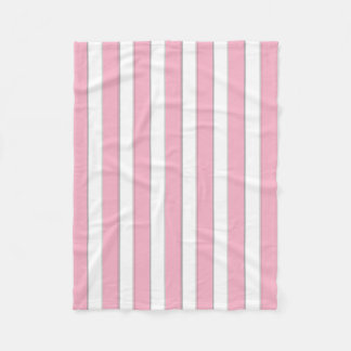 Elegant Pink/White/Silver Stripes Fleece