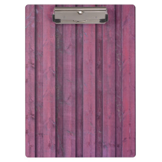 Elegant Pink wood boards Clipboard