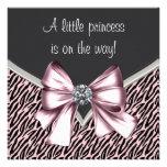 Elegant Pink Zebra Princess Baby Shower