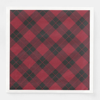 Elegant Plaid | Holiday Disposable Napkin