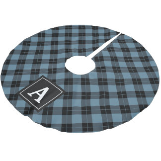Elegant Plaid | Holiday Monogram Tree Skirt