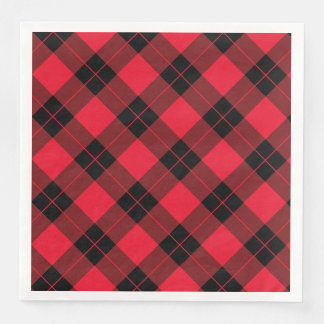 Elegant Plaid | Holiday Paper Napkin