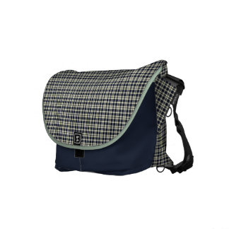 Elegant Plaid Pattern Messenger Bag