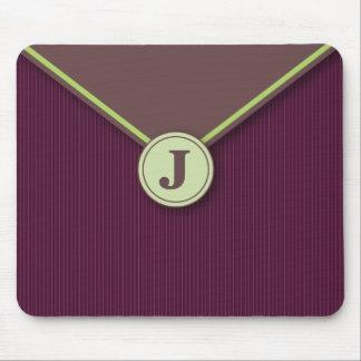 Elegant Plum Personalised Monogrammed Mousepad