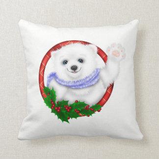 Elegant  Polar Bear Christmas Cushion