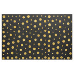 Elegant polka dots - Black Gold Fabric