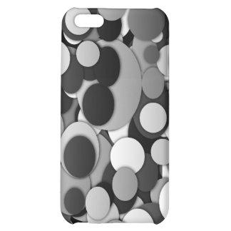 Elegant polka dots black white dotty cover for iPhone 5C