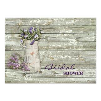 elegant primitive lavender rustic country 11 cm x 16 cm invitation card