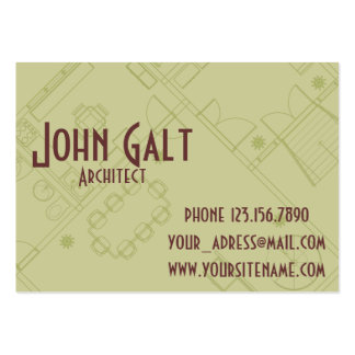 Elegant Professional Architect Large Business Cards (Pack Of 100)