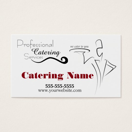 Elegant Professional Catering Business Cards
