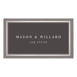 Elegant Professional Charcoal Gray Pack Of Standard Business Cards