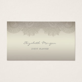 Elegant  Professional Charming  Luminous,Lace Business Card