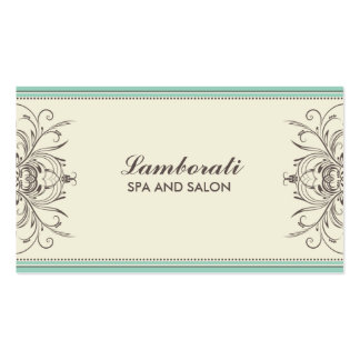 Elegant Professional Damask Floral Modern Art Deco Pack Of Standard Business Cards