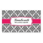 Elegant Professional Damask Floral Pattern Salon Business Cards