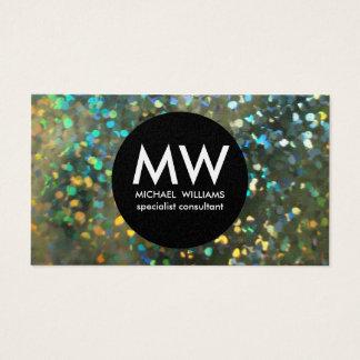 Elegant professional metal silver hologram business card