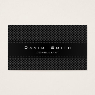 Elegant professional modern carbon fiber business card