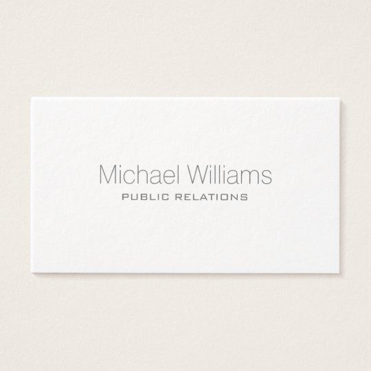 ELEGANT PROFESSIONAL MODERN MINIMALIST TARGET BUSINESS CARD
