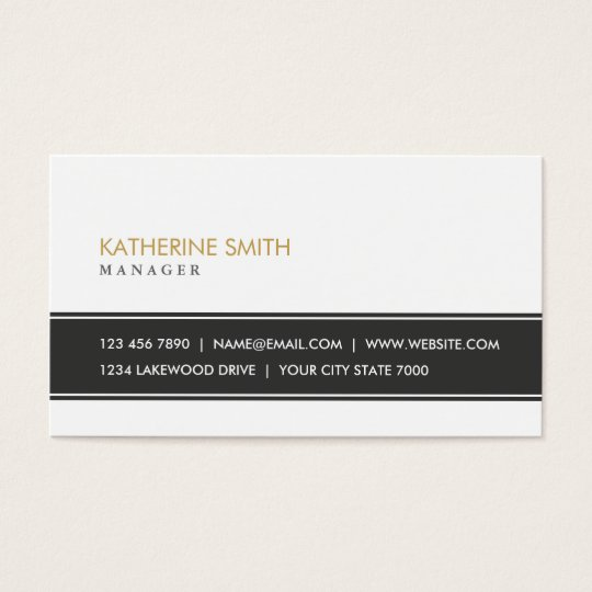 Elegant Professional Plain Simple Black and White Business