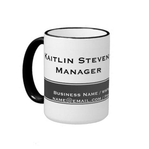 Elegant Professional Plain Simple Gray and White Coffee Mugs