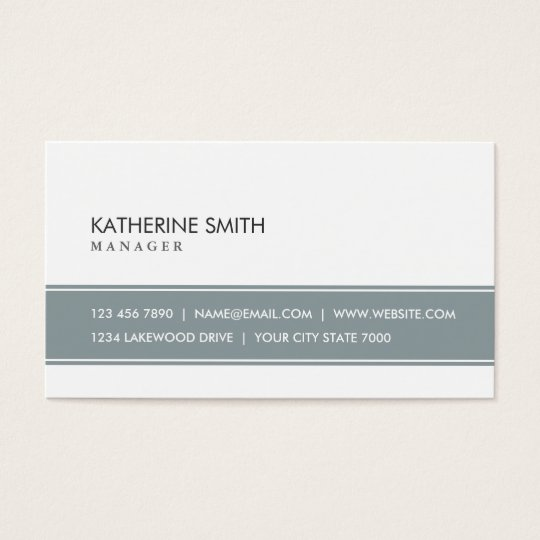 Elegant Professional Plain Simple Grey and White Business