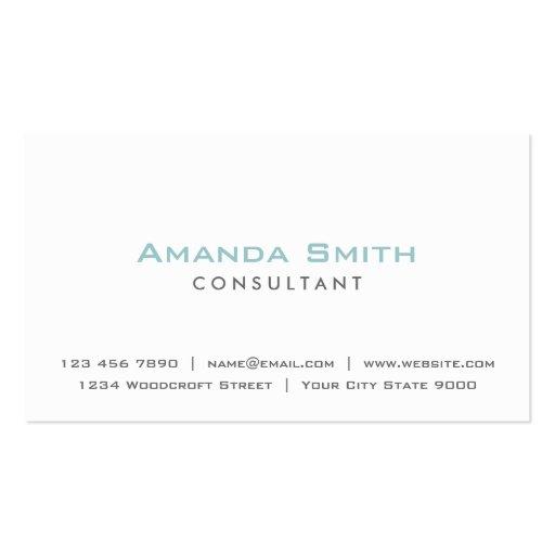 Elegant Professional Plain White Makeup Artist Business Cards