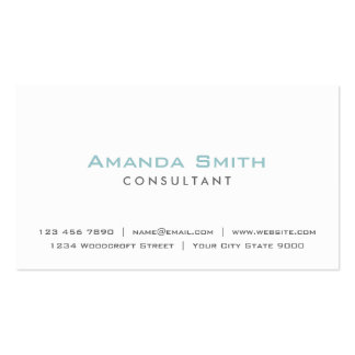 Elegant Professional Plain White Makeup Artist Pack Of Standard Business Cards