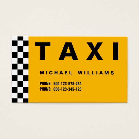 ELEGANT PROFESSIONAL SIMPLE METAL TAXI TAXI DRIVER BUSINESS