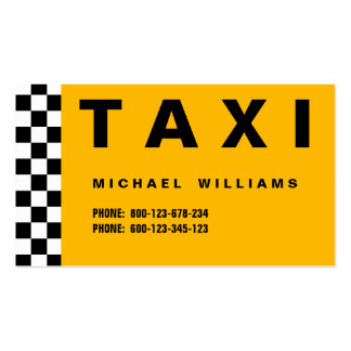 ELEGANT PROFESSIONAL SIMPLE METAL TAXI TAXI DRIVER PACK OF STANDARD BUSINESS CARDS
