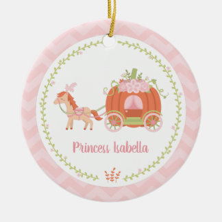 Elegant Pumpkin Carriage Princess Girl Ornament