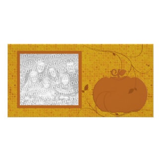 Elegant Pumpkin Photo Card