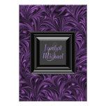 Elegant Purple and Black Wedding RSVP