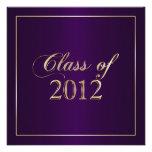 Elegant Purple and Gold Class of 2012 Invitation