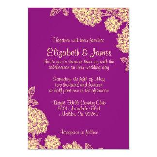 Purple And Gold Wedding Invitations Announcements Zazzlecouk