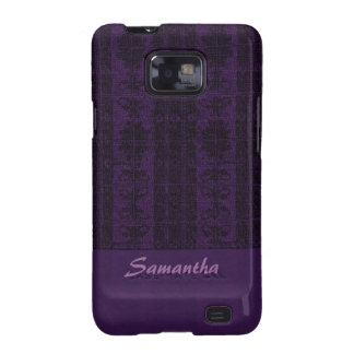 Elegant purple black Damask Samsung Galaxy SII Covers