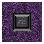 Elegant Purple Black Wedding Personalised Invitation