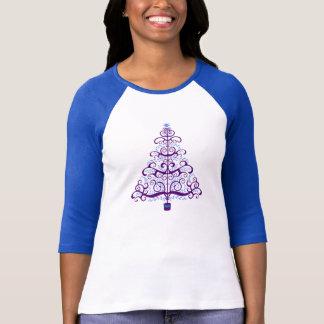 Elegant Purple Blue Christmas Tree T-Shirt