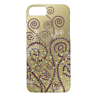 Elegant Purple Boho Deco Artistic Spirals Casing iPhone 7 Case